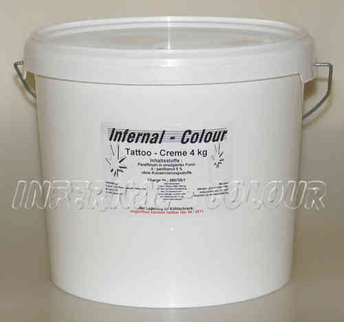 Tattoo Creme Infernal Colour ® mit D - Panthenol 5 % / 4kg