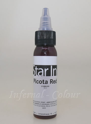 Star Ink  Picota Red 30 ml  MHD 30.06.2021