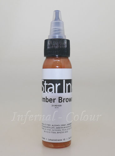 Star Ink  Amber Brown 30 ml  MHD 30.06.2021