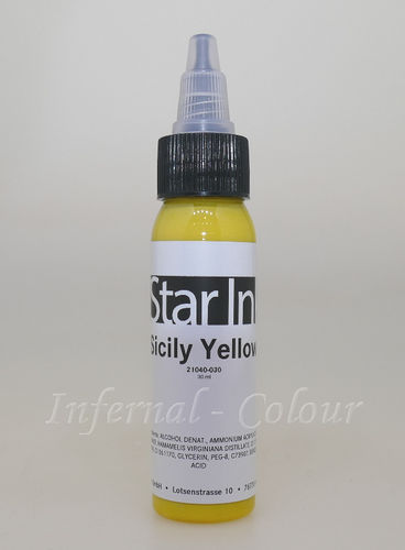 Star Ink  Sicily Yellow 30 ml   MHD 30.06.2021